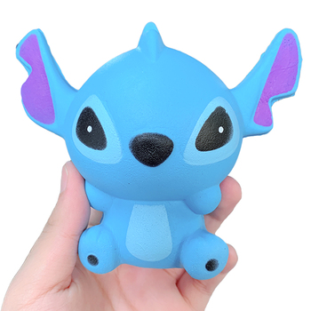 Jumbo Cute Stitch Squishy Simulation Slow Rising Sweet Scented Decompression Stress Relief Soft Squeeze Toys Fun for Child Toy squishy antistress toys jumbo soft slow rising rice cake food stress relief bakery decoration decompression squishies kids toys