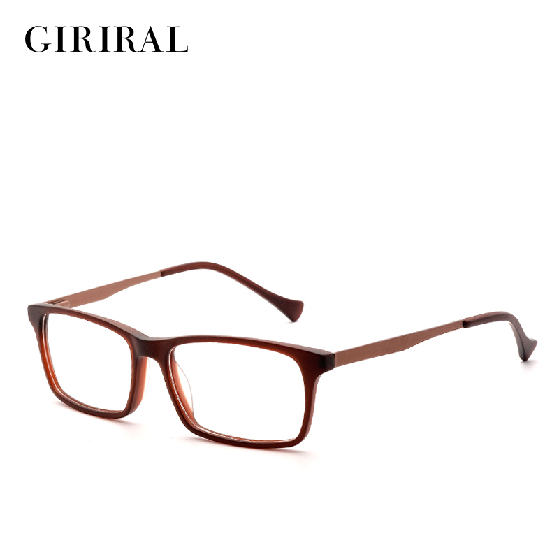 Acetate men Eyeglasses frame vintage designer brand clear myopia optical glasses frame #BC3584