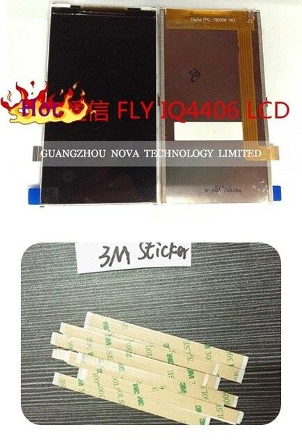 Para FLY IQ4406 Pantalla LCD (No Toque Digitalizador pantalla Sensor) + 3 M Etiqueta; de seguimiento libre