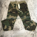 Tops Kanye West fear of god Camouflage Drawstring Jogger Mens Military Zippered Ankles Flap Pockets Camo Cargo Trouser