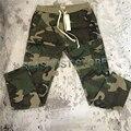 Tops Kanye West temor de deus Camouflage Cordão Camo Carga Calças Basculador Mens Militar Zíper Tornozelos Bolsos Flap