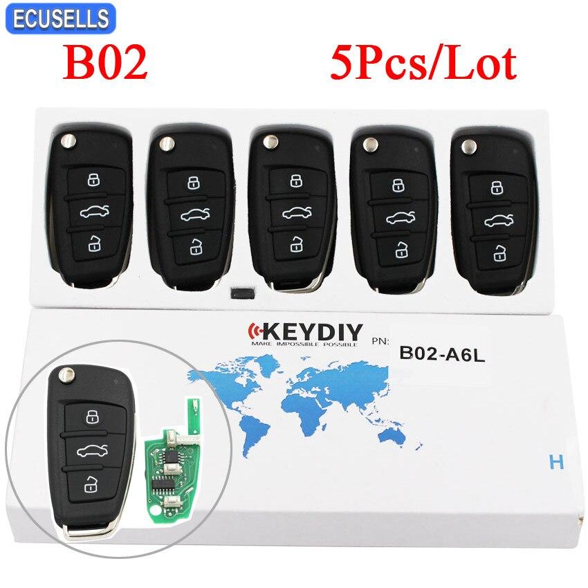 5 Pcs Lot B02 Remote Control Smart KD Car Key A6L Style 3 Button B Series