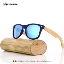 KITHDIA 100% Natural Bamboo Wooden Sunglasses WOOD Handmade Polarized Mirror Coating Lenses Eyewear With Gift Box