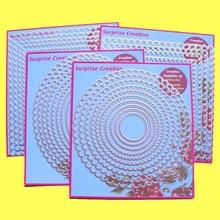 4 Set Grote Stansmessen Geschulpte Rechthoek Vierkante Cirkel & Ovale Plakboek Craft Diy Stencil Verrassing Creatie Sterft