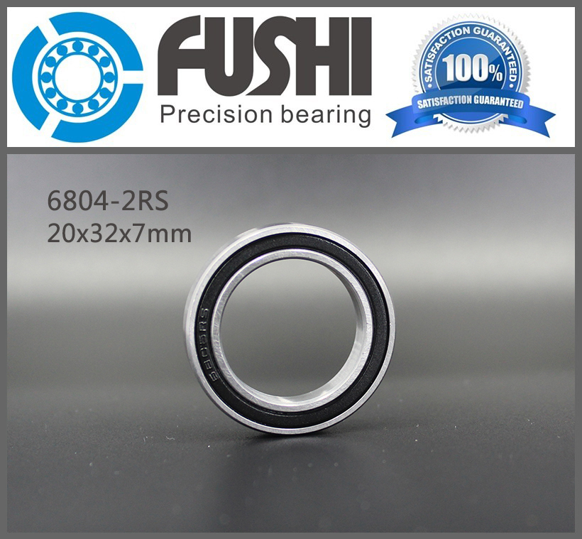 6804 2RS Bearing 20*32*7 mm ( 10 PCS ) ABEC-1 Metric Thin Section 61804RS 6804 RS Ball Bearings 6804RS 6819 2rs abec 1 95x120x13 metric thin section bearings 61819 rs 6819rs