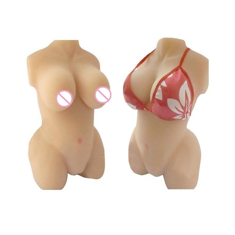 Full Silicone 3D Half Body font b Sex b font Breast Silicone font b Doll b