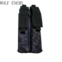 P90 Nylon 600D Tactical Molle Dual Double Pistol Mag Magazine Pouch Close Holster For Outdoor Airsoft
