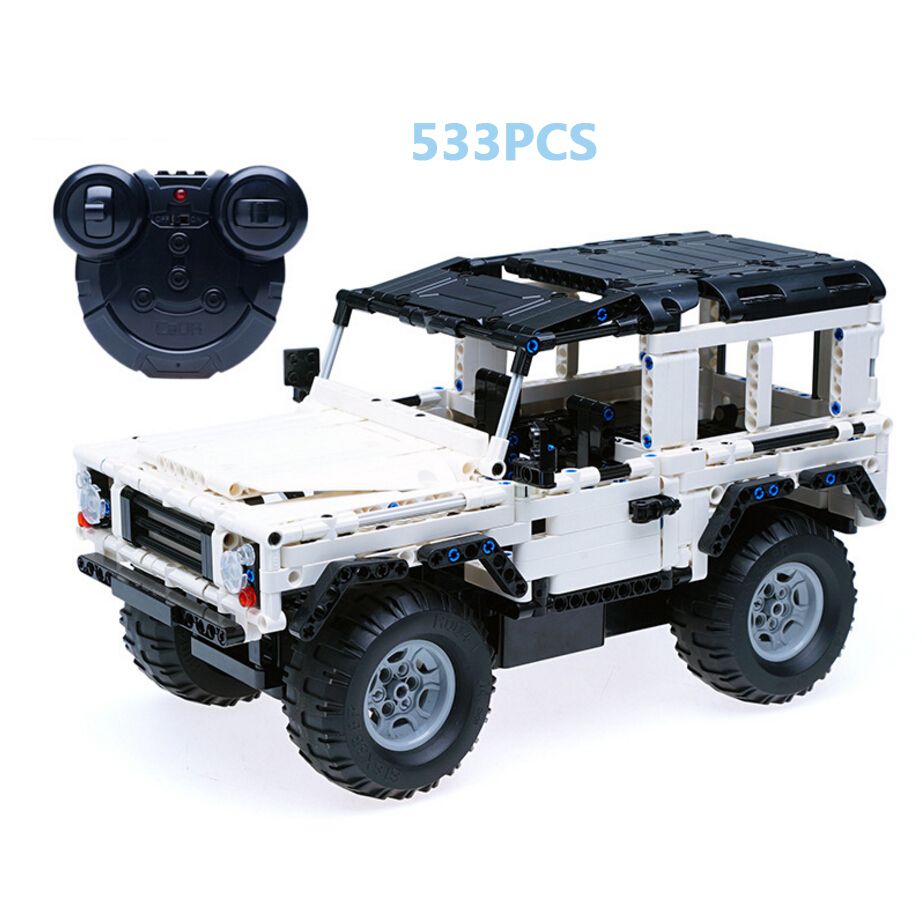 Hot rc suv land defender rover assemblage brick Off-road vehicle model car legoeinglys block remote radio control toy collection