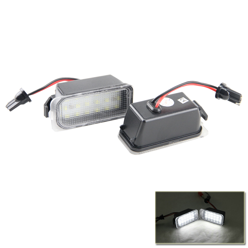 New Led Number License Plate Lamp Lights For Ford Fiesta S-MAX C-MAX Kuga Mondeo Galaxy Auto Car Rear Replacement Lamps Light