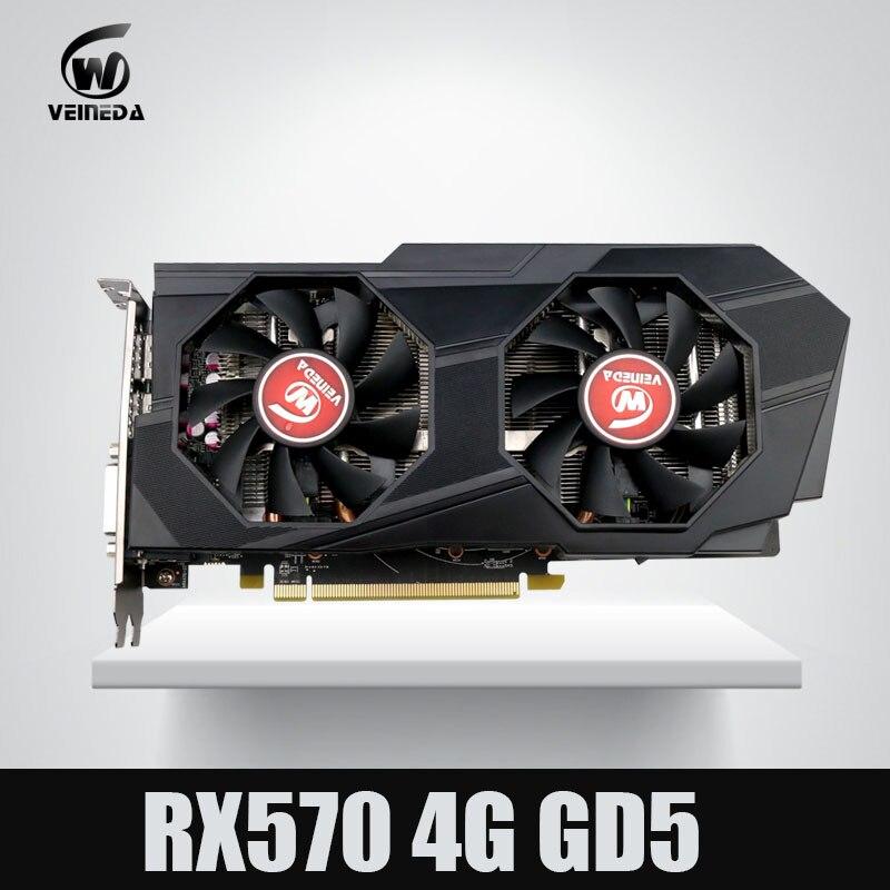 Video Card Computer Veineda RX 570 4G push GTX 1060 Graphic Card InstantKill gtx 1050 ti