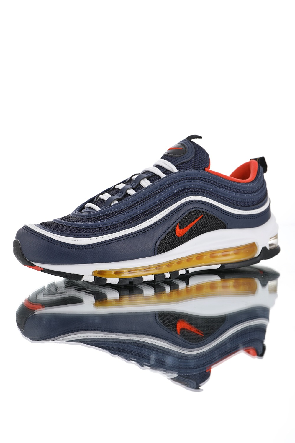 pretty nice 30f31 7f549 US $173.33 |2018 RELEASE New Arrival Nike Air Max 97 Men's and Women  Running Shoes,Official Breathable Sports Sneakers 921826 403-in Running  Shoes ...