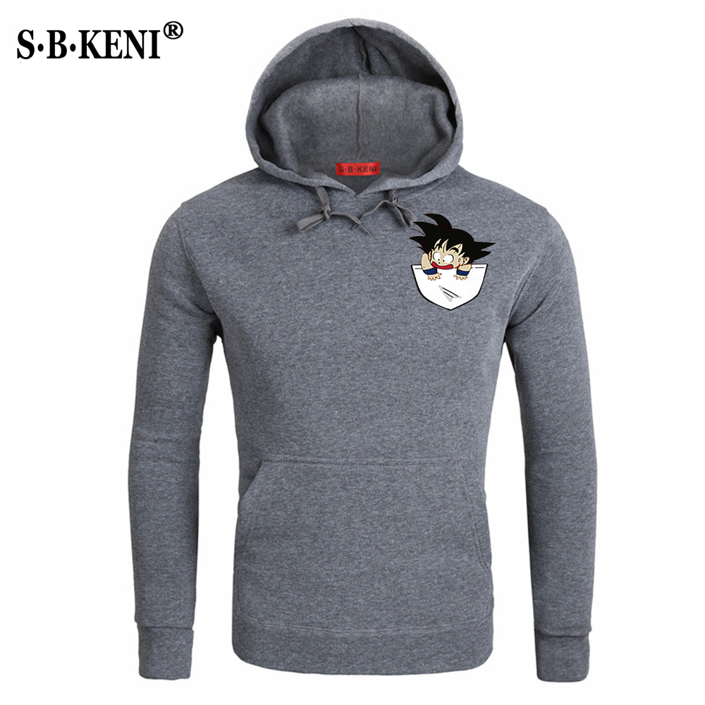 NEU18 Anime Dragon Ball Z Hoodies Men Autumn Winter Men Jacekt Sweatshirt Tracksuits Brand Clothing Hoody Plus Size Sweatshirt 3