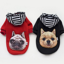 The new Warm Dog Clothes Puppy Outfit Pet Hoodies Autumn/Winter Clothes Soft Cotton Clothing For Small Dogbaby sweater Dog Bag
