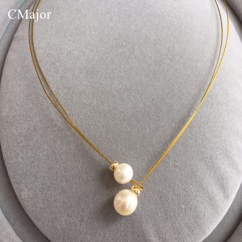 CMajor Mode Gold Gefüllt Draht Natürliche Perle Drehmomente ...