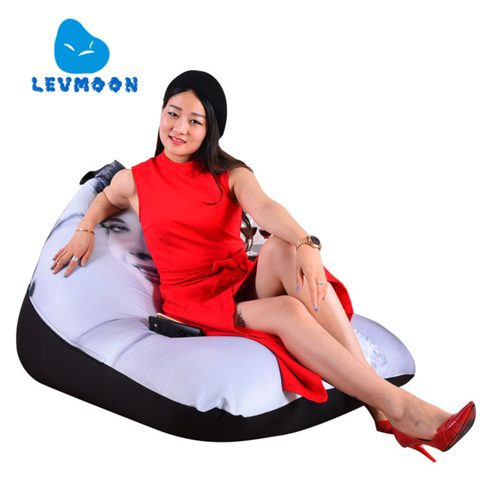 LEVMOON Beanbag Sofa Chair Hepburn Seat Zac Comfort Bean Bag Bed Cover Without Filling Cotton Indoor Beanbags Lounge Chair сандалии tom