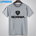 New Fashion Summer Brand Short Sleeve T Shirt Quality Printed Saab SCANIA T-shirt Male Cotton Men Casual Top Tees