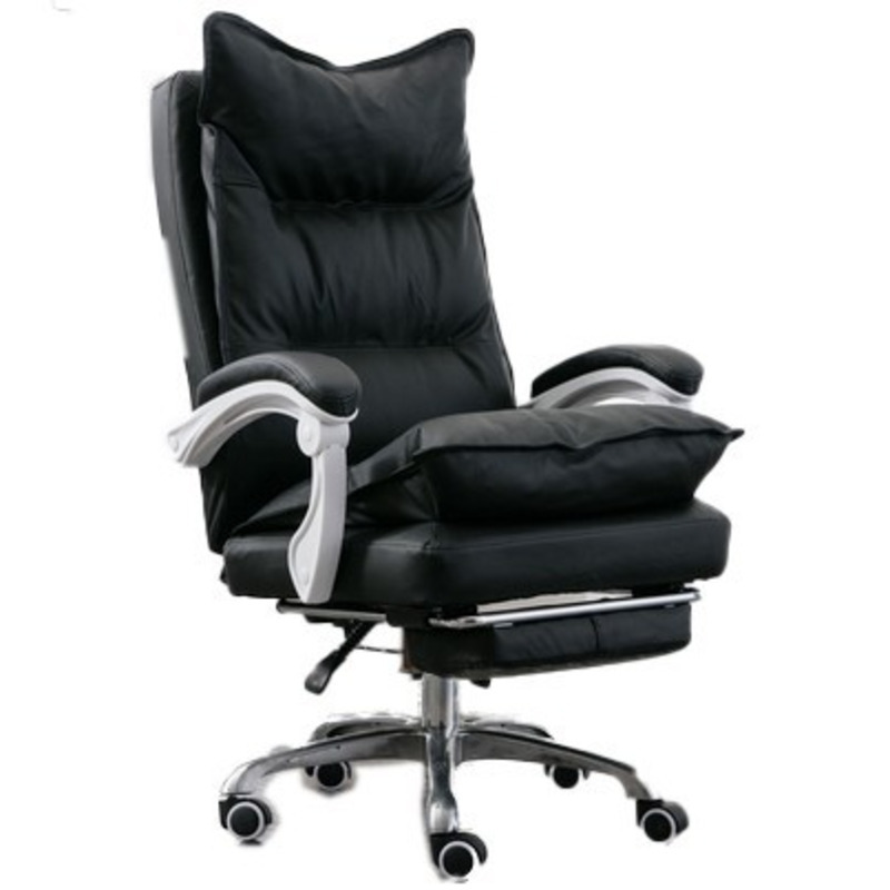 High Quality 515b Office Esports Gaming Live Boss Chair Synthetic Leather Wheel With Footrest Ergonomics Household Steel Feet