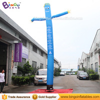 Personalized 23 feet blue inflatable sky tube / sky tube blower / 7 meters sky tube for decoration toys