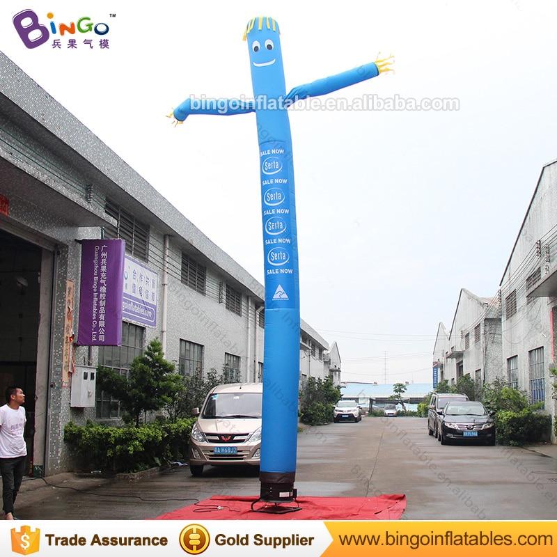 Personnalisé 23 pieds bleu gonflable ciel tube/tube de souffleuse ciel/7 mètres ciel tube pour la décoration jouets