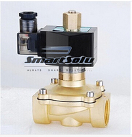 Free Shipping 2pcs 3 4 Normally Open Brass Electric Solenoid Valve 2W200 20 NO DC12V DC24V