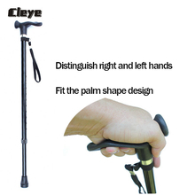 Crutches Walking-Cane Retractable Rubber Elderly Aluminum-Alloy Anti-Slip Cleye for Professional