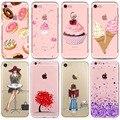 Donuts de colores Macaron teléfono casos para iphone 7 8 7 6 plus 6 S 8 plus diseño de chicas amor corazón flor funda de teléfono suave Capa Shell