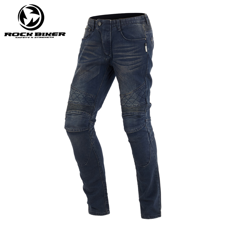 ROCK BIKER Slim Motorcycle pants Women Men Straight Motorbike pants jeans Motocross riding Trousers Protective gear XS-XXXXL fashion hi street mens ripped denim joggers black distressed jeans pants streetwear slim fit straight biker trousers size 28 42