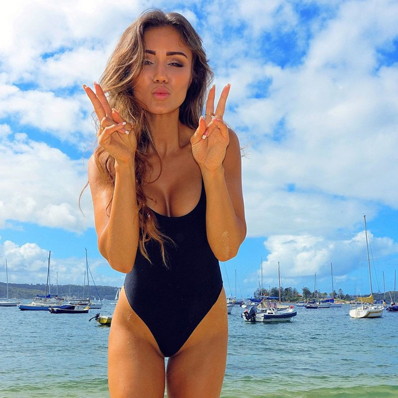One-Piece Swimwear Sexy Women Padded Push-up Bikini Beach Swimsuit Bathing Suit Swimwear Beachwear Maillot de bain Femme 2017 ruffle one piece swimsuit push up swimwear women sexy monokini solid bathing suit high cut beachwear maillot de bain femme