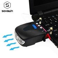 Cantilevered Laptop Cooling Vacuum Fan External USB Silent Ice Notebook Cooler Digital Display Adjustable Smart Model