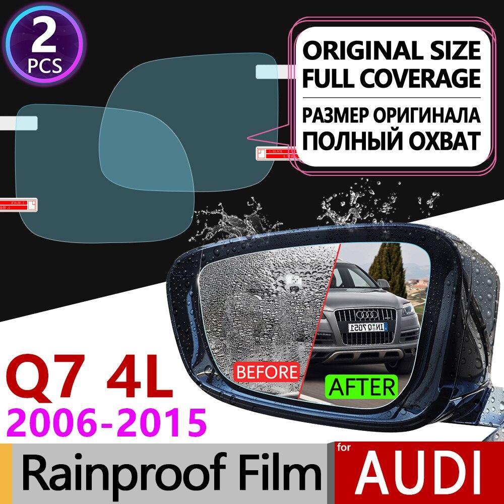 2 шт. для Audi Q7 2006-2015 4L полное покрытие противотуманная пленка зеркало заднего вида непромокаемые фольги прозрачные противотуманные пленки а...
