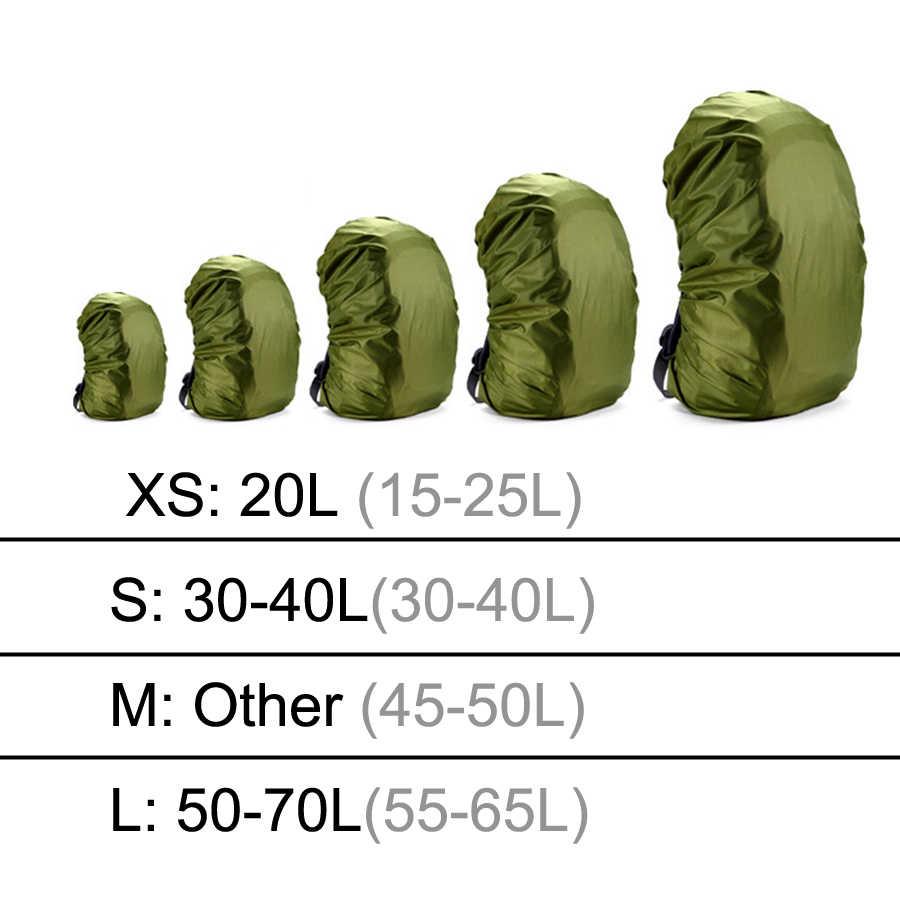 Ransel Hujan Menutupi 60L 50L 40L 30L 25L 20L Tas Tahan Air Kamuflase Taktis Militer Berkemah Mendaki Tas Nilon Lipat Jas Hujan suit
