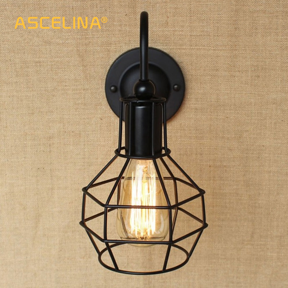 Industrial Vintage Wall Lamps Sconce Retro Wall Light Fixtures American Simple Backlit Mirror Home Decoration Lighting Fixture