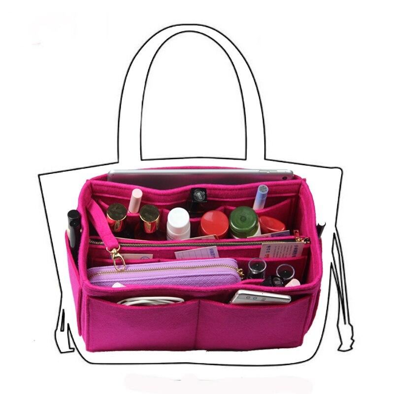 Passt Neverfull PM MM GM Einfügen Organizer Geldbörse Handtasche Tasche in Tasche-w/Abnehmbare Zip Tasche 3MM premium Filz (Handgemachte/20 Farben)
