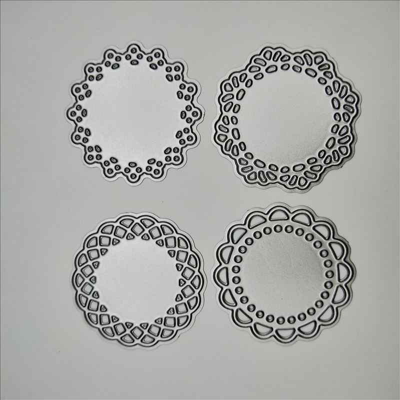 4Pcs//set Oval Metal Cutting Dies For DIY Scrapbooking Album Paper Cards KI
