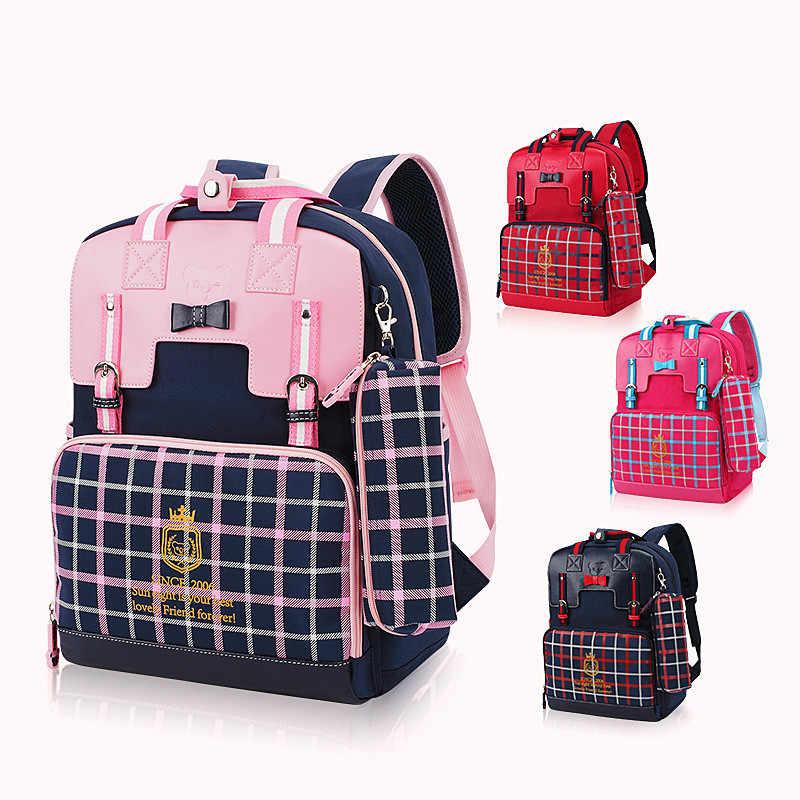OKKID grundschule taschen für mädchen nette buch tasche kinder mädchen schule rucksack wasserdichte nylon kinder rucksack geschenke für mädchen