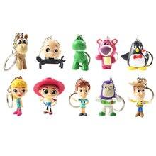 10 unids lote juguete historia Woody Buzz Lightyear Jessie blanco dinosaurio  lindo Mini llavero colgante de PVC figura de acción. 3a44713c145