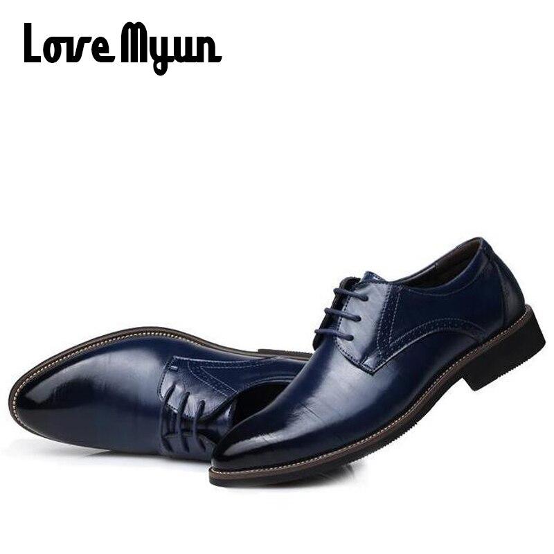 Erkek hakiki deri ayakkabı erkek elbise ayakkabı İş düğün - Erkek Ayakkabıları - Fotoğraf 5