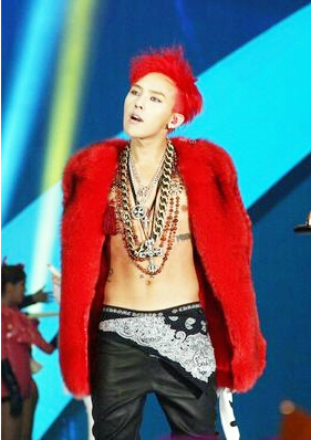 Hot sale ! bigbang Male new ds red fur coat clothing men's fashion stage singer costumes coat / M-XL