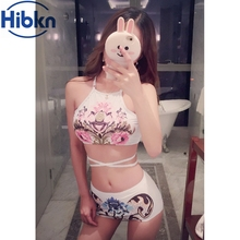 Floral crop tops bikini crisscross swimsuit strappy bikini print bandage bathing suits crop top swimwear for women