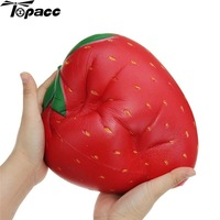 25cm Simulation Big Red Strawberry Huge Fruit Slow Rising Soft Gift Collection With Packaging Antistress Ball Decompression