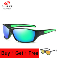 Quirke Brand Polarized Sunglasses Men Sport Women Driving Eyewear Sun Glasses Travel Male Female Night Vision UV400 Blue