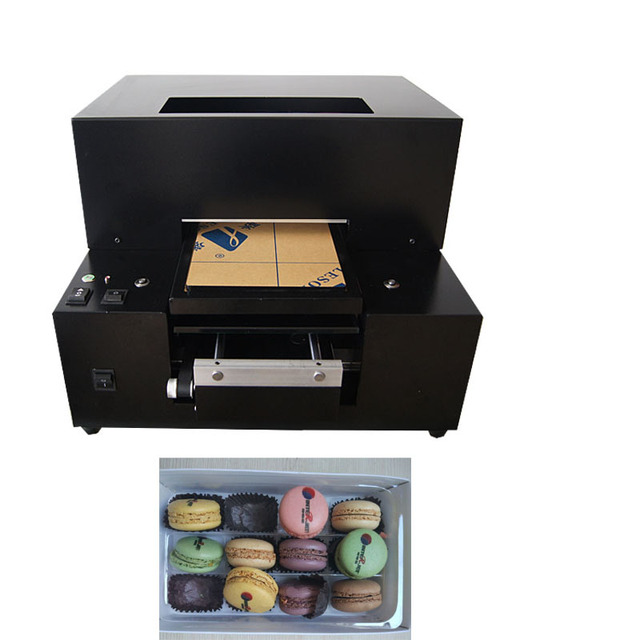 Automatic  Foods Printer A4 size Flatbed Edible ink printing macaroon  Printer Machine