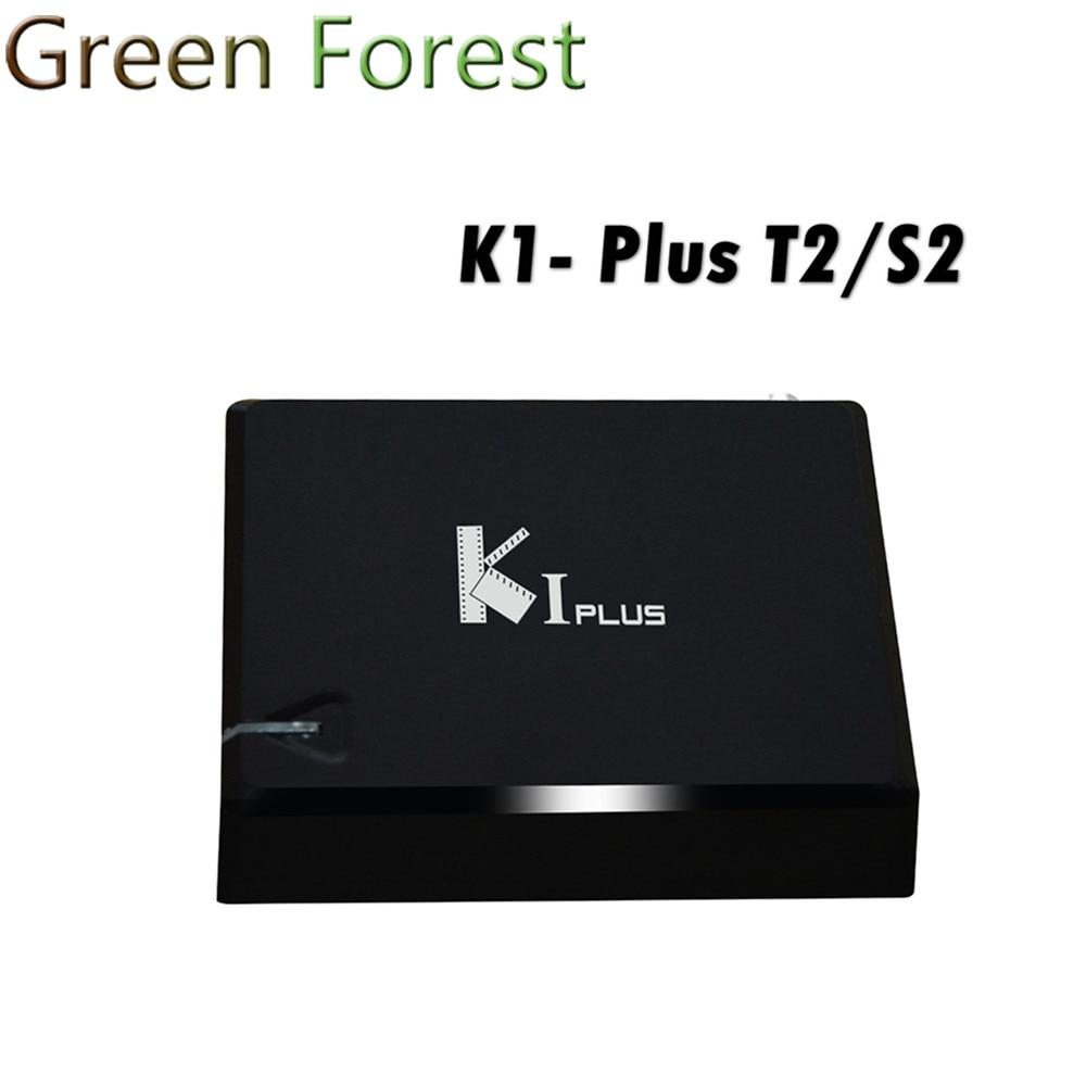 ФОТО KI PLUS +T2 S2 Amlogic S905 Quad core 64-bit Support DVB-T2 DVB-S2 1G/8G 1080p 4K Android 5.1 TV Box K1 Plus T2 S2