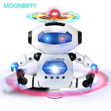 Moonbiffy Smart Space Dance Robot Electronic Walking Toys With Music Light Gift For Kids Astronaut Toy to Child(China)