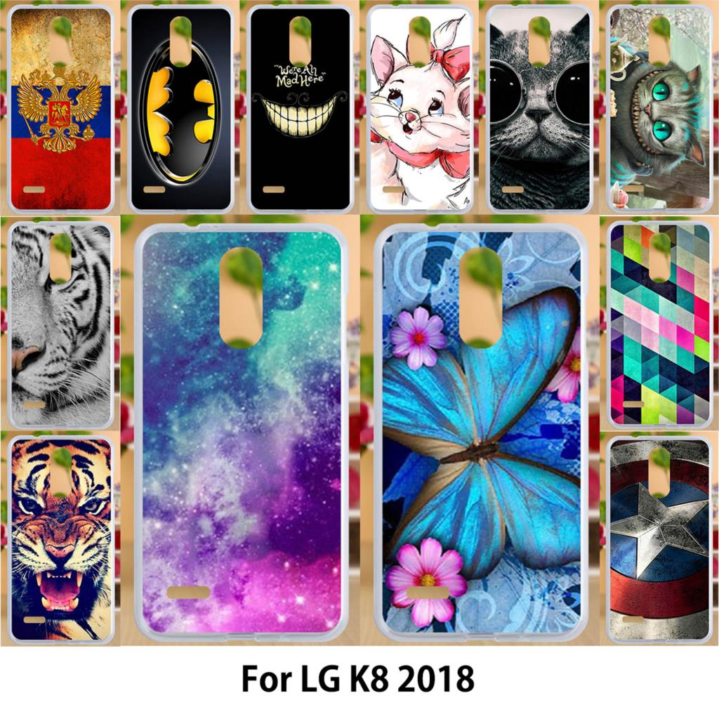 Anunob Case For LG K8 2018 Cases TPU Soft Silicone 5 0 inch Cover For LG K9 Russia Covers Romance Painting in Fitted Cases from Cellphones Telecommunications