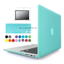 New Matte Case For Apple Macbook Air Pro Retina 11 12 13 15 Laptop Cover Bag For Mac 13.3 inch