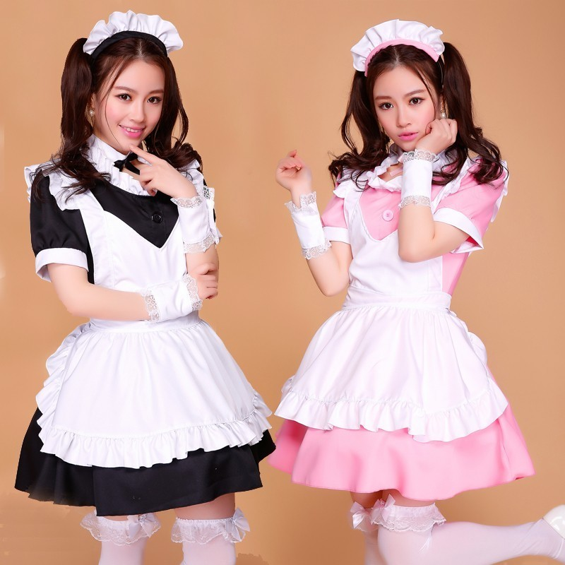 French Anime Beer Sissy Maid Dress Cosplay Pink Black Anese Costumes For Women Y In Holidays From