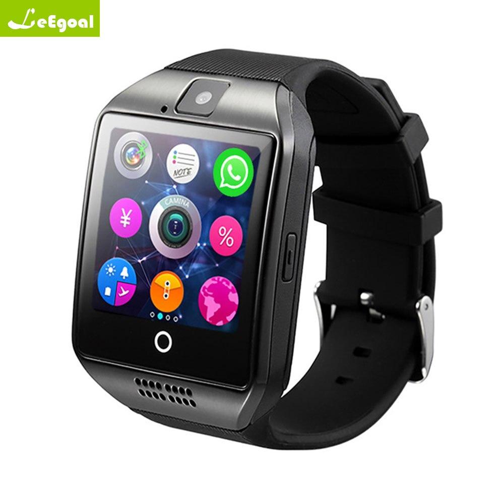 Leegoal Q18 Astuto Della Vigilanza di Sostegno Sim Carta di TF Telefonata Push Messaggio Macchina Fotografica La Connettività Bluetooth Per IOS Android Phone