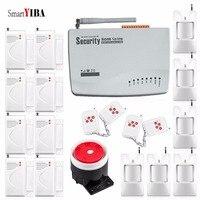 SmartYIBA Wireless Home GSM System Alarmowy dla Domu/Biura/Bezpieczeństwa Fabryki Potrójne Pasma Częstotliwości Podczerwieni PIR Alarm Syreny Alert