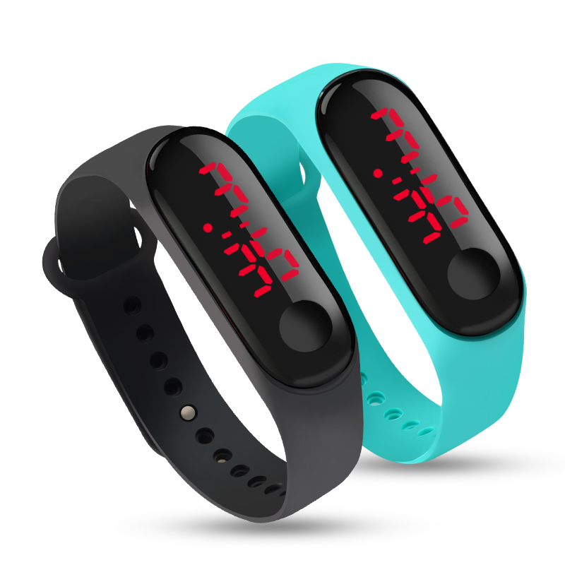 10 Colors Touch LED Screen Display Date Digital Sport Casual Silicone Strap Men Women Wristband Kids Gift Bracelet Watch Clock